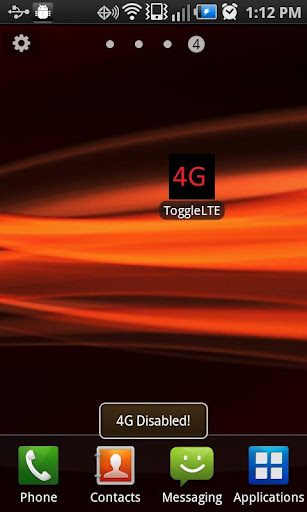 4G LTE Toggle for CHARGE