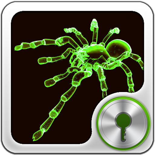 GO Locker Neon Green Spider LOGO-APP點子