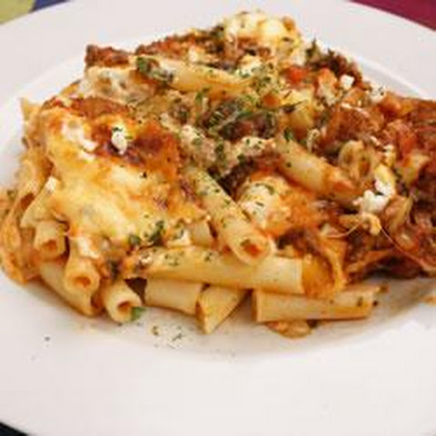 ... lasagna style baked ziti recipe yummly lasagna style baked ziti baked