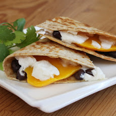 Mango, Black Bean & Goat Cheese Quesadilla
