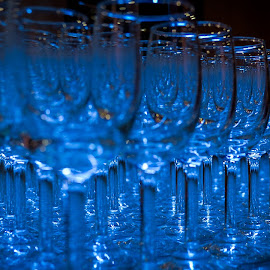 Beauty Thru Glasses by Melvin Nagulan - Artistic Objects Glass ( #blue, #object, #nikon, #wine, #glass )