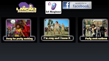 Screenshot of LMFAO Soundboard