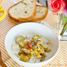 Chicken & Corn Chowder with Roasted Potato