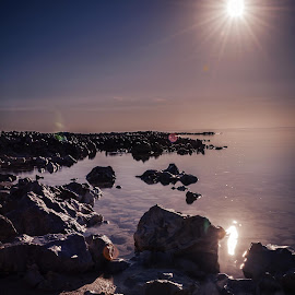 The Sunlight and Landscape by Agha Rafay - Landscapes Beaches ( doha, beautiful places, landscapers, landscape photography, sea, qatar, places, beauty in nature, seaside, seascape, landscape, landscapes )