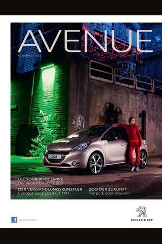 Neu: PEUGEOT Avenue App