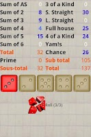 Screenshot of Yacht Dice Game