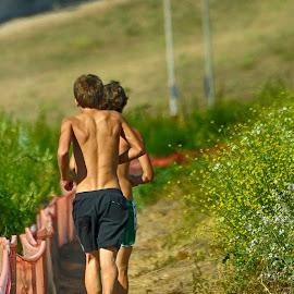 Youthful Runners by Jose Matutina - Sports & Fitness Running ( costa mesa, fairview park, runners, youth )