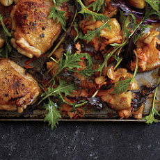 Roast Chicken with Kimchi Smashed Potatoes