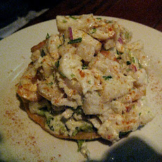 Open-Faced Crab Salad Melt