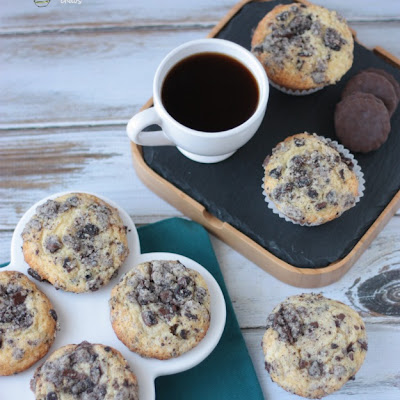 Thin Mint Streusel Muffins