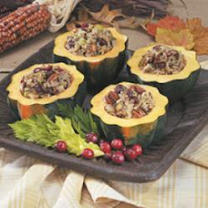 Wild Rice Stuffed Squash