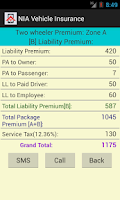 Screenshot of Vehicle Insurance Calculator