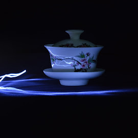 teacup by Alice Chia - Abstract Light Painting