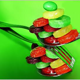 Just a Spoon Full of Sugar by Kathy Hancock - Food & Drink Candy & Dessert ( macro, desert, candy, food, silverware )
