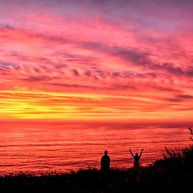 Winter Solstice Sunset by Donna Gatz - Landscapes Sunsets & Sunrises