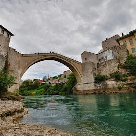 Mostar by Gergana Stefanova - Landscapes Travel ( neretva, travel, landscape, mostar, bride, river )