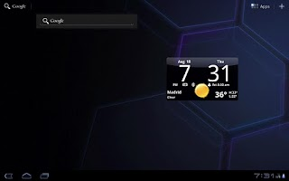 Screenshot of Smoked Glass Clock Widget