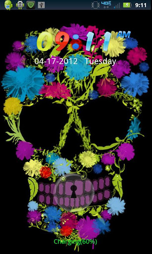 Flower Skull GO LOCKER