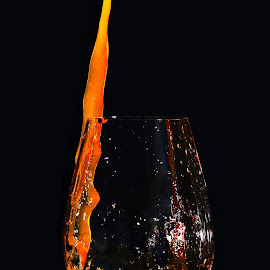 Orange Wine by Demian Blixt - Food & Drink Alcohol & Drinks ( wine, water, orange, splash, glas )