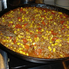 Easy Hamburger Corn Casserole
