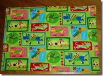 placemat funky green