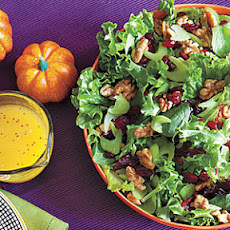Green Salad with Celery, Walnuts and Cranberries
