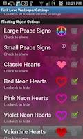 Screenshot of Pink Love Live Wallpaper FREE
