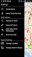 Screenshot of Yard Sale Treasure Map
