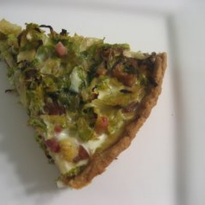Brussels Sprout, Pancetta and Chestnut Tart with Whole Wheat Shell