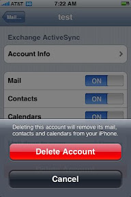 how to delete exchange email account on iphone 6