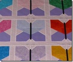 Butterfly Quilt closeup