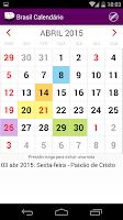 Screenshot of Brasil Calendário 2015 NoAds