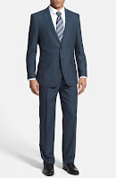 English Laundry Trim Fit Stripe Suit