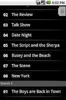Screenshot of TV Shows Light