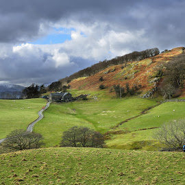The Colours of the Fells, Cumbria, England by Simon Harding - Landscapes Mountains & Hills ( clouds, walking, simon harding, landscape, lake district, ambleside, england, windermere, nikon d800, fells, english, crags, troutbeck, fields )