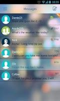 Screenshot of GO SMS Pro Z Glass Theme EX