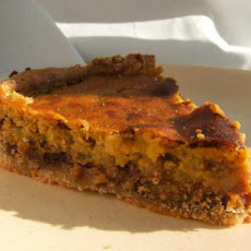 Praline Pumpkin Custard Pie