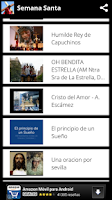 Screenshot of Semana Santa 2014 - Canciones