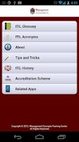 Screenshot of ITIL Glossary and Acronyms