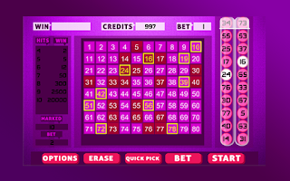 Screenshot of Keno Bingo