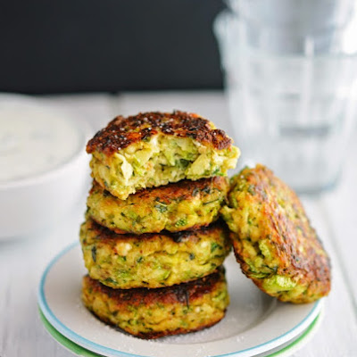 Creamy Greek Zucchini Patties (Low Carb & Gluten-Free)