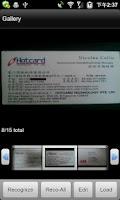 Screenshot of ScanCard BCR US/EU Lite