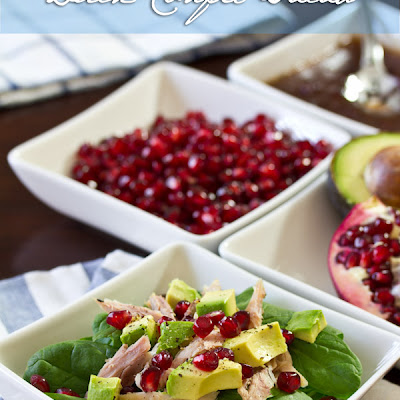 Duck Confit Salad with Cranberry Vinaigrette