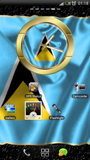 Saint Lucia flag clocks