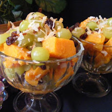 Sweet Potato Salad With Toasted Coconut and Grapes