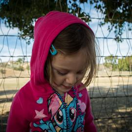 Camera Shy by Raymond Collins - Babies & Children Children Candids ( love, little girl, girl, animals and kids, pics of kids, cute kid, shy girl, children, shy kids, shy, kids, kid,  )