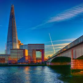 The shard, London by Nizam Akanjee - City,  Street & Park  Skylines ( the shard, shard, london bridge, london, river thames )