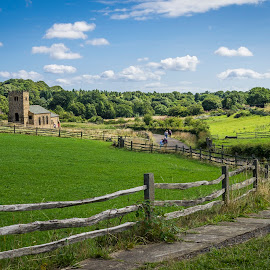 The Church down the lane by Simon Hawketts - Landscapes Prairies, Meadows & Fields ( dog days, europe, park, beamish, united kingdom, county durham, historical theme park, england, summertide, village, season, seasons, sunny season, summer, summertime )