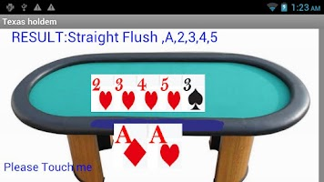 Screenshot of Texas hold 'em