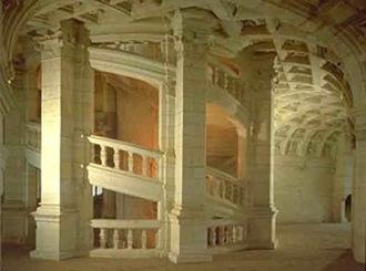 Château de Chambord-escalier